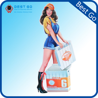 Cardboard Material Advertising Standee /Pop Display stands for Supermarket promotional