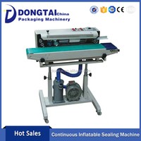 Continuous Sealing High Quality Inflatable Plastic Bag Sealing Machine