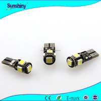 New design 5 pcs 5050 smd t10 5w5 canbus car led auto bulb car interior lighting