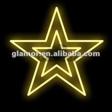 Star design Merry christmas rope light motif.GS,CE,UL,CUL,SAA approved,