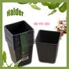 hot 9.3*9.3*9.7cm big black plastic ps pot garden