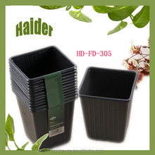 hot 9.3*9.3*9.7cm big black plastic ps pot garden