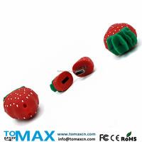 bulk buy from china strawberry shape pendrive 4G 8G 16G 32G 64G Fruit USB key