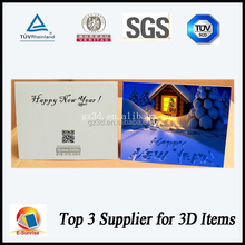 popular custom design 3d lenticular greeting card for holiday gifts