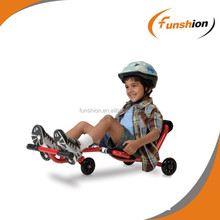 Three LED wheel pedal go cart, pedal scooter