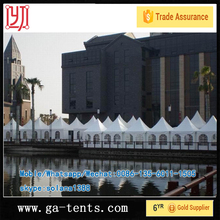 aluminium frame fire,water,sun proof used inflatable tent 850G/SQM top cover 650G/SQM sidewall