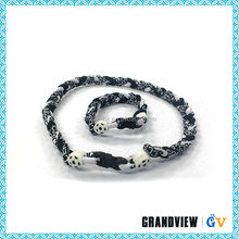 Cheap custom name design necklace,necklace for men,titanium necklace making quad titanium sports necklace