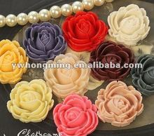 Flat back resin craft cabochon flower shape for mobile sticker decoration sell at best price! Fashion in 2012!