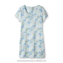 women's knit print jersey nightgown