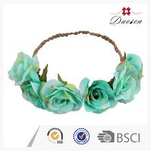 Natural Color Ribbon Flower Crown Headband