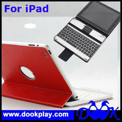 Newest Wireless Bluetooth Cover for iPad 4 Aluminum keyboard case