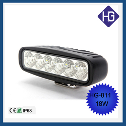 Car parts factory in china 18W 6 inch C-REE bulbs flood/sport/combo led light bars