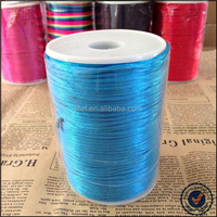 Multi colored available woven cotton round braided cord diameter 1mm