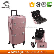 2 in 1 Professional Rolling Display Makeup Case