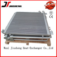 high performance brazed aluminum oil cooler for caterpillar oem type,aluminum vacuum oil radiator