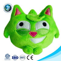 Cute green plush toy cat with sound cheap mini plush dog pet toy soft stuffed green plush cat toy