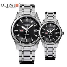 OLIPAI Couple watch luxury wrist watch stainless steel mechanical watch a pair