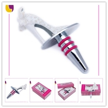 Crafts & Gifts Zinc alloy wine stopper/wine accessories/bottle stopper blank with high heel head for wine parts made in bulk
