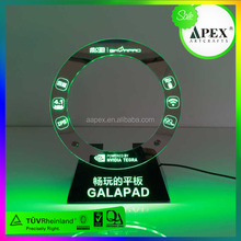 Curved Glass Mobile Phone Display Counter with Holder