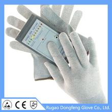 Hot sale CE EN388 skin-protective Carbon Fiber safety equipment work gloves for lights part handling/mobile phones/electronic go
