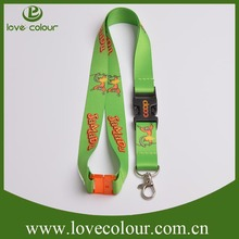 Custom Adjustable & Detachable Safety Plain Lanyards With Detachable Side Release Buckles