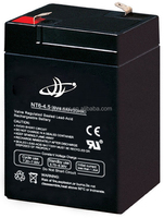 Guangzhou factory 3fm4.5 battery 6V4.5AH solar battery for toys car use