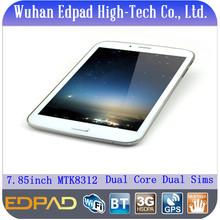 "Cheap price 7.85"" MTK8312 dual core dual sim tablet 3g wifi bluetooth gps tv"