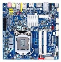 Gigabyte Original Mini-ITX Motherboard GA-H61TN, LGA1155, Intel H61, DDR3, DP, LVDS, RAID, DCIN, PCI Express *4