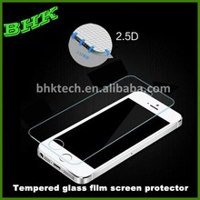 2.5D round edge tempered glass film screen protector for iphone 5 5s 5c perfect adhesion