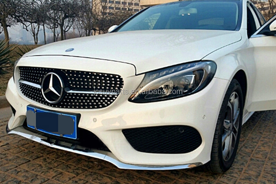 Diamond grille for mercedes benz w205 new c class c250 for Mercedes benz c250 performance upgrades