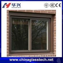 Environmental protecting profile aluminum alloy frame buiding standard sliding single tempered glass liquid crystal window