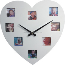 beautiful heart shape photo frame wall clock(HA-114)