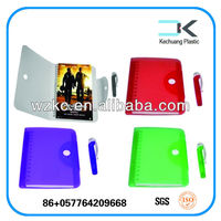 Stationery !! Plastic cover promotion die cut spiral notebook