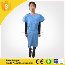 ce, iso 9001:9002 Certification short sleeve Resist blood Isolation Gown/Surgical Gown