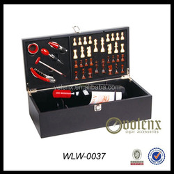 Promotioan Gift Wooden Wine Box With Chess