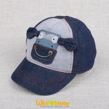 custom cute infant child toddler baby calf cow embroidered navy denim baseball cap