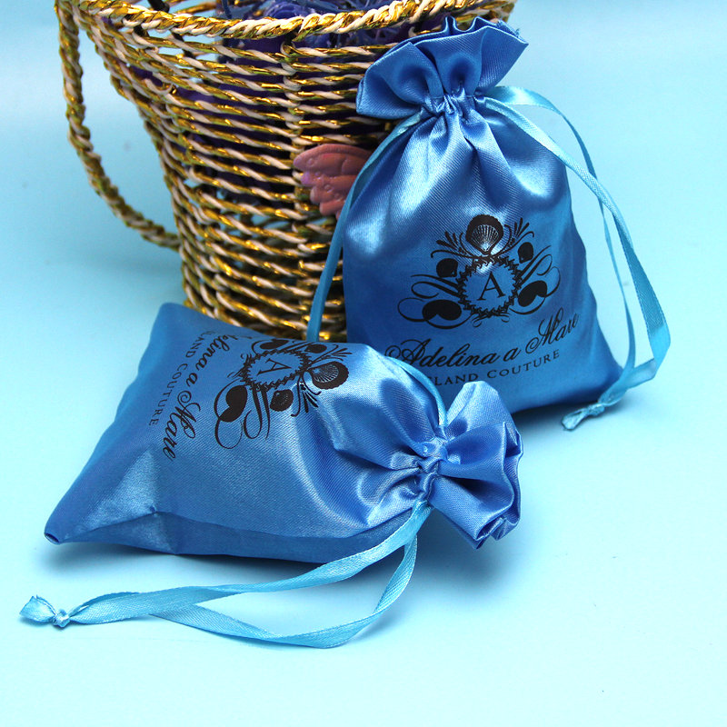 Excellent quality wholesale Fancy silk jewelry bags / silk stain bags