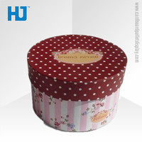 Wholesale round paper packing box in shenzhen, luxury cardboard gift packaging box