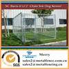 outdoor solid roof chain link dog kennel enclosure fence for dog runs