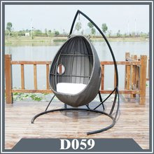 egg shape rattan swing hanging chair indoor outdoor use