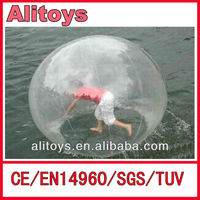 inflatable human sized water ball, tpu or pvc material