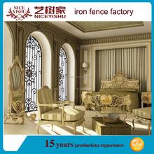 China Top 5 iron window grill design/decorative wrought iron window grill/outdoor iron grill window door designs