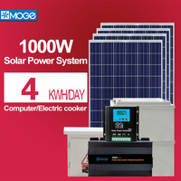 Moge 1kw off grid solar system with battery for home high configuration