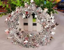 Christmas decorations Christmas tree ornaments Christmas striped Christmas wire five-star rattan
