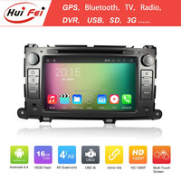 """Capacitive Touch Screen 8"""" Double Din Car DVD Player For Toyota Sienna RK3188 Quad-core Car DVD For Sienna"""