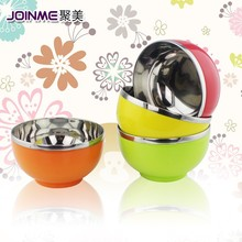 The plastic surface colorful rice bowls/bear hits and bear falls