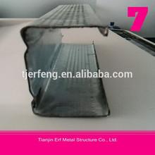 Canal c correas de especificación/acero tamaños de canal