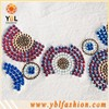 Iron on Grade C Rhinestone Trims Appliques for Shoes