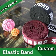 wholesale custom nylon spandex jacquard branded woven elastic band for high quality
