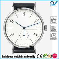 Quartz movement three hands sapphire crystal glass watch 38mm case diameter thickness 8mm stainless steel case nomos watch style